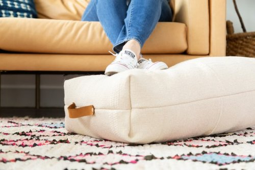 Transform a $4 IKEA Rug Into a Gorgeous Floor Pillow | Hunker