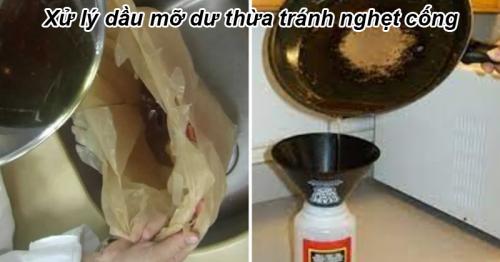 Mẹo xử lý dầu ăn dư thừa sau nấu ăn tránh làm tắc cống hiệu quả - Hút Hầm Cầu Phú Lộc