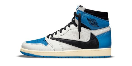 "Take an Official Look at Travis Scott x fragment x Nike's Air Jordan 1 High ""Military Blue"""