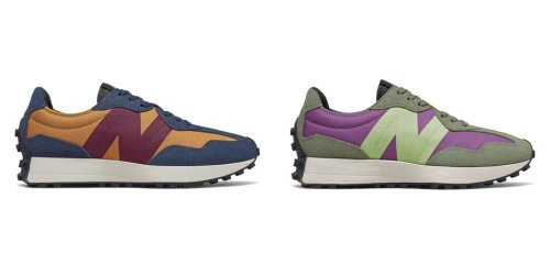 """The New Balance 327 Releases in Colorful """"Natural Indigo"""" and """"Sour Grape"""" Makeups"""
