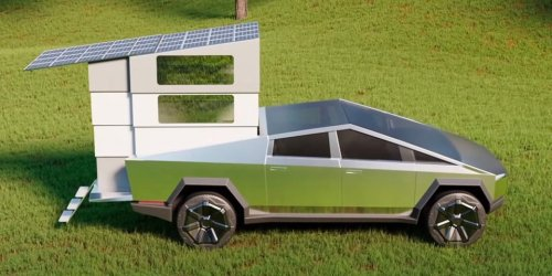 Cyberlandr Transforms Tesla's Cybertruck Into an Elevated Camper