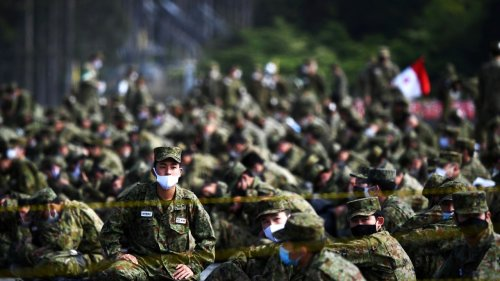 Japan sends message to China, US with largest military drill in 30 years