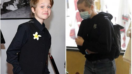Shiloh Jolie-Pitt's 2021 transformation from tomboy to teen supreme: taller, long hair and sparkly earrings – Angelina Jolie and Brad Pitt's child and LGBT icon debuted a brand new look