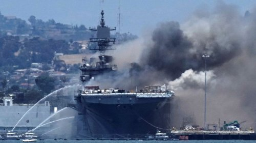 US Navy charges sailor with starting fire that destroyed USS Bonhomme Richard warship