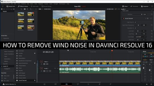 Remove wind noise from video easily using Davinci Resolve 16 for free.
