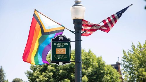 LGBTQ pride flags disappear along Boise's Harrison Boulevard. Police investigate as theft