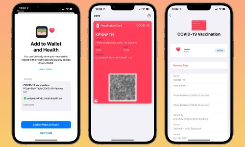 Ontario Now Supports iOS 15 COVID-19 Vaccination Cards | How it Works