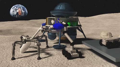 Teamarbeit im All: Roboter ebnen den Weg für astronautische Mondmissionen und nachhaltige Weltraumforschung
