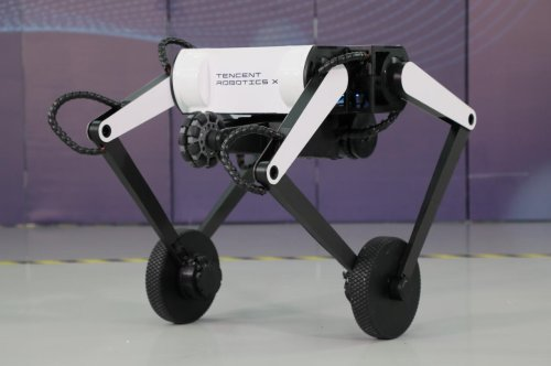 Tencent's New Wheeled Robot Flicks Its Tail To Do Backflips