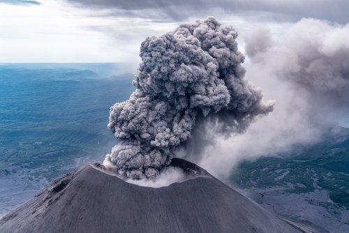Man Snaps Selfie Right Next To Huge Erupting Volcano