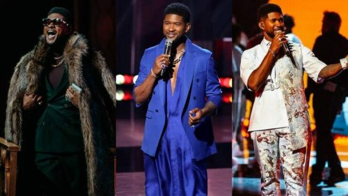 Every Outfit Usher Wore During The 2021 iHeartRadio Music Awards