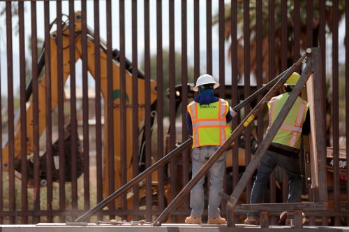 Border Wall Construction Resumes as Biden Approves Repairs of Key Levee