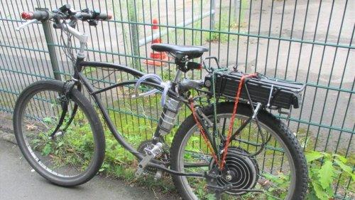 Schrottrad zu E-Bike umgebaut - Polizei stoppt Fahrer