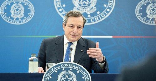 Riaperture, la conferenza stampa di Mario Draghi in diretta