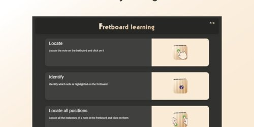 Fretboard Learning - Learn guitar chords, scales and notes with games | Product Hunt