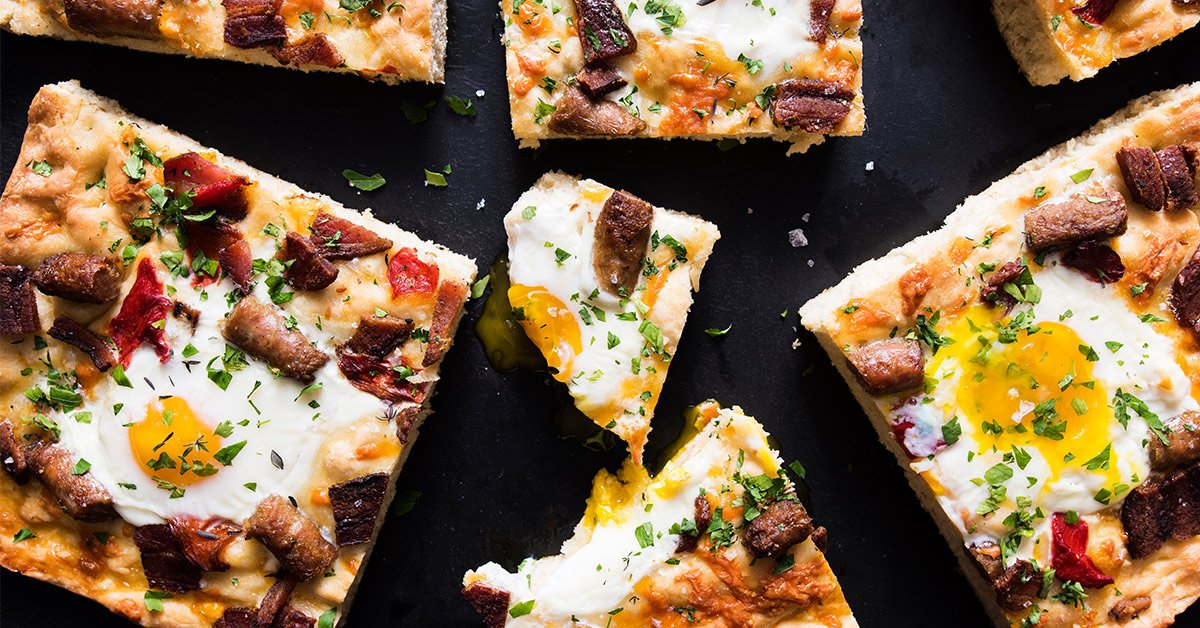 Hearty Breakfast Focaccia That Takes No Time At All