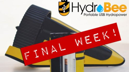 Hydrobee Harvests Water Energy for USB Power to Go
