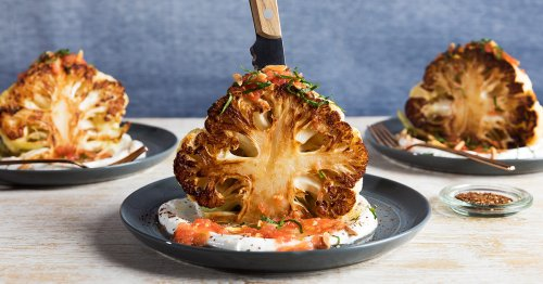 Roast Cauliflower Steaks with Labneh Are the Vegetarian Main You're Craving