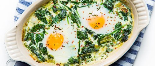 Baked Eggs With Spinach To Start Your Morning Off Right