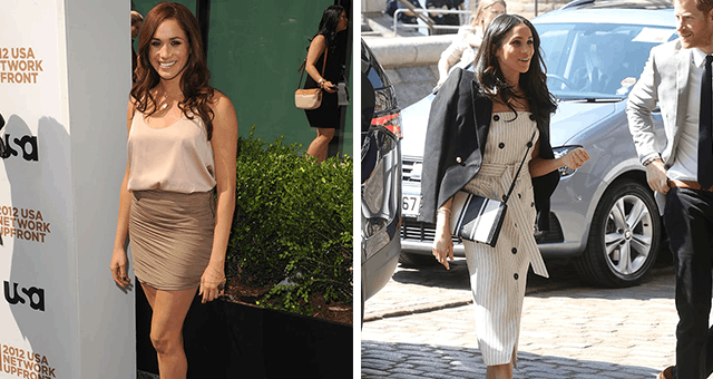 Meghan Markle's Fashion Transformation: From Ruched Miniskirts to Belted Overcoats