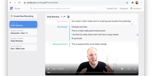 Scribe AI - Transform meetings into instantly searchable video & text | Product Hunt