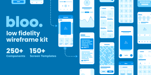 Bloo Lo-fi Wireframe Kit - Open source wireframe kit for design and prototyping | Product Hunt