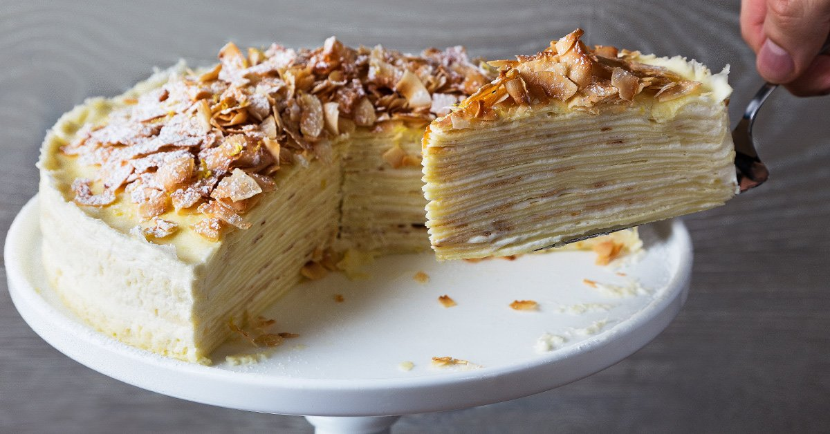 Impress Everyone You Know with This Coconut-Lemon Crepe Cake