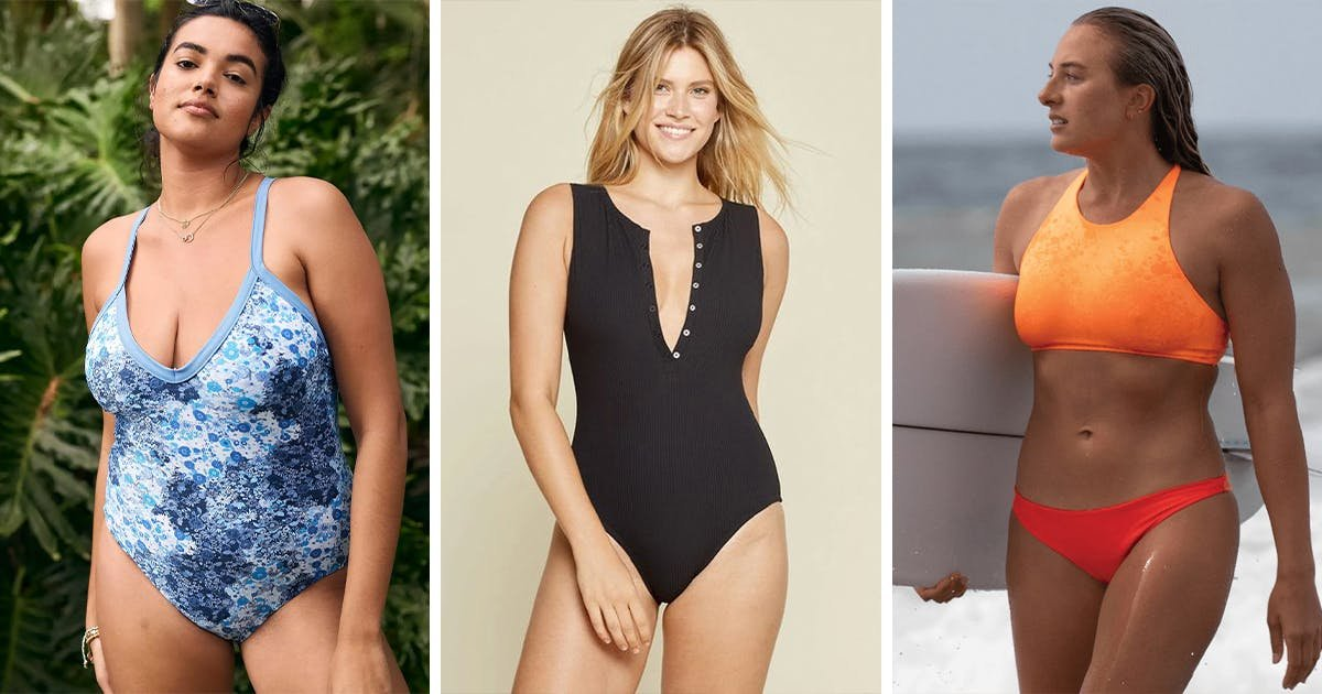 The 5 Best Swimsuits for Women with Broad Shoulders, According to the Experts (Plus Which Styles to Avoid)