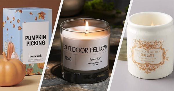 30 Fall Candles That Will Have You Dreaming of Leaf Piles and Pumpkin-Spice Everything
