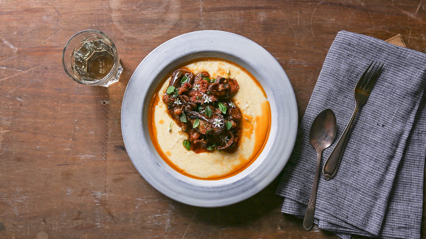 You Can't Go Wrong With Eggplant Polenta