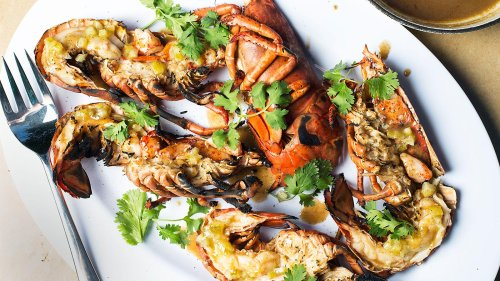 Curried Grilled Lobster