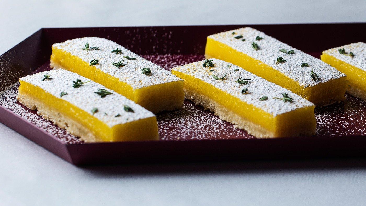 Sweet Lemon-Thyme Bars Will Rule Your Summer