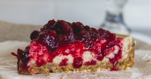 This Cheesecake Has Lovely Cranberry Touch