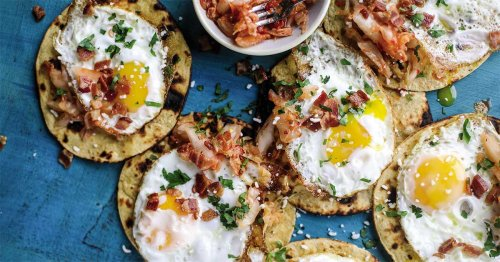 Bacon, Egg and Kimchi Breakfast Tacos Will Make You a Morning Person