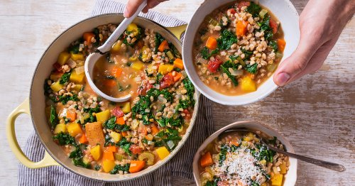 This Kale and Farro Soup Is Healthy and Hearty