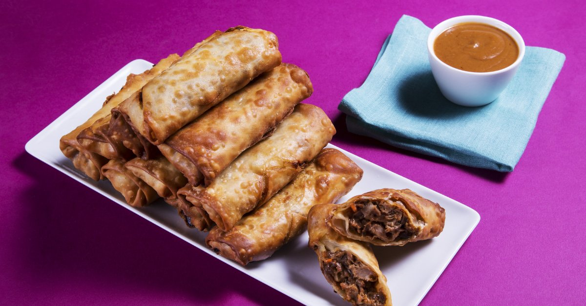 It's Unreal How Good Adam Richman's Pulled Pork Egg Rolls Are