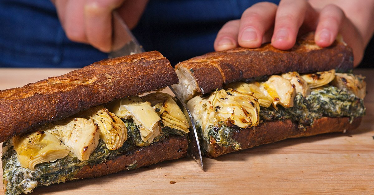 Turn Spinach And Artichoke Dip Into An Epic Sandwich