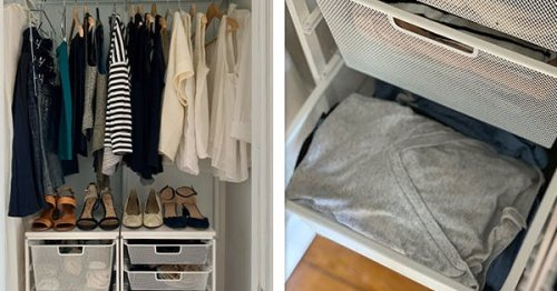 I Made Over My Closet With a Container Store Elfa System and OMG, the Sock Storage