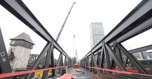 Auf der neuen Elsenbrücke werden auch Straßenbahnen fahren können