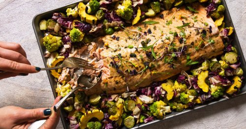 This Maple Sheet Pan Salmon Will Satisfy The Whole Family