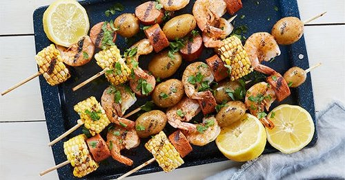 8 Next-Level Skewer Recipes to Make on the Grill This Summer (Dessert Included)