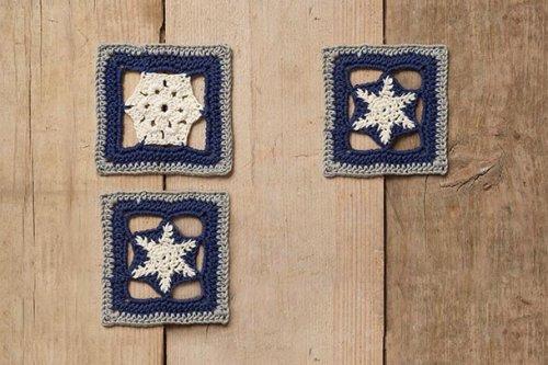 1. Make a cosy starry night crochet blanket designed by Sara Huntington
