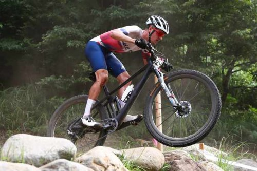 This is the BMC Fourstroke that Tom Pidcock won Olympic XC gold on