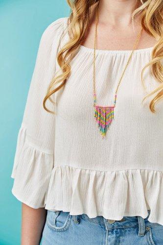 Bead weaving necklace tutorial