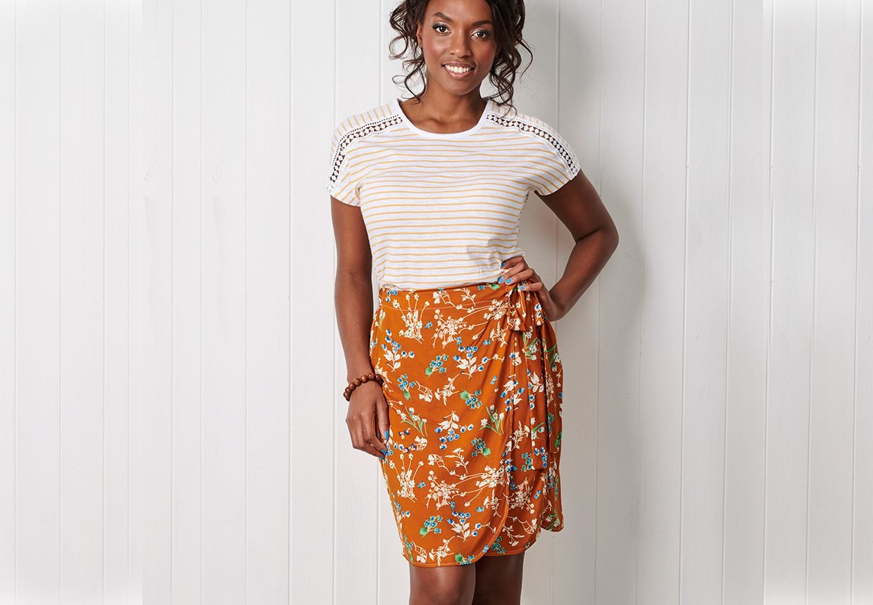 20. How to sew a wrap skirt