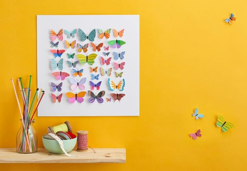How to make butterfly art using gouache