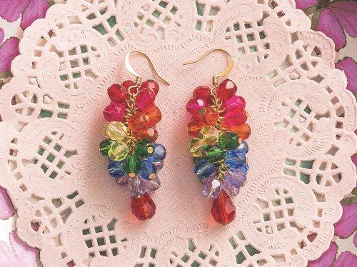 How to make rainbow earrings