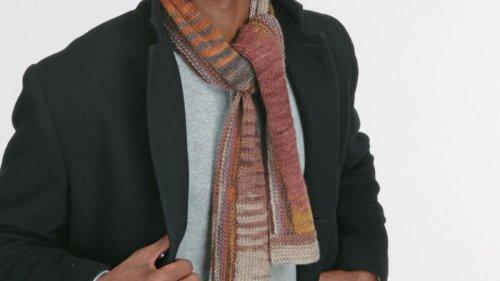 Free men's scarf knitting pattern