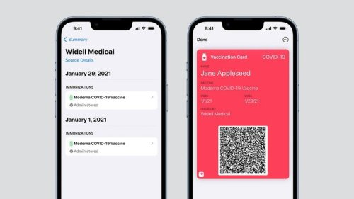 You can now store your COVID-19 vaccination card in the Health app