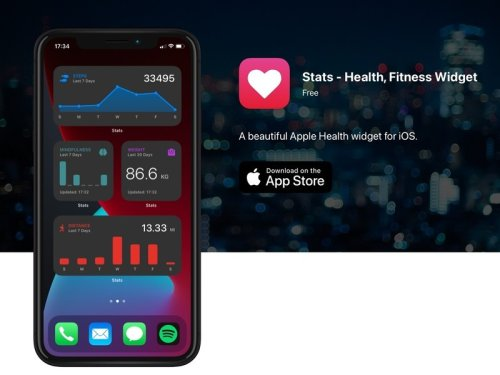 Stats takes your health data and puts it into a widget on your Home screen